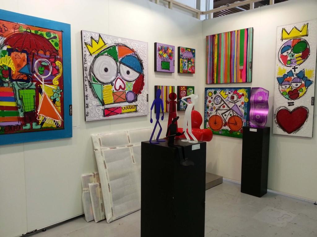 Opere esposte alla Fiera di Arte Contemporanea AAF di Milano