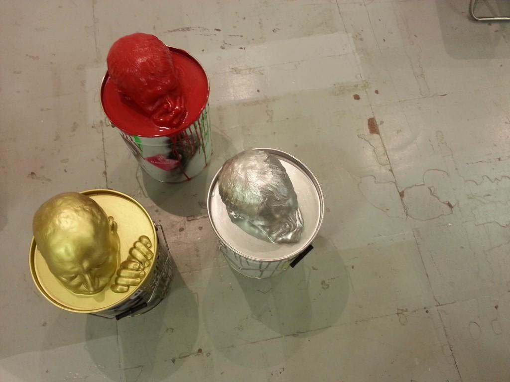 Installazione presso lo stand di una Galleria d'Arte all'AAF Milano